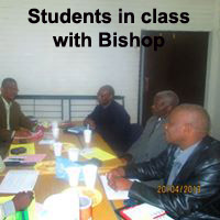 Students in Class with Bishop